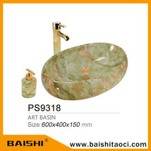 BAISHI Natural Cheap Carving Marble Ceramic Stone Basin