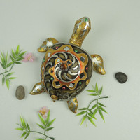 Antique Imitation Crafts Lucky Turtle Figurines for Home Decor