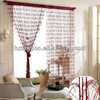 Feather fur decorative window fringe curtain
