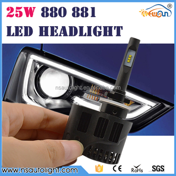 Hottest DC12-24V 3200LM IP66 Mini size h1 h3 880 881 Ph ilips light led headlight, h4 h7 h8 h11 9005 9006 led light