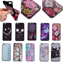 Beautiful Butterfly/Flower/Tree Printing Soft TPU Case for iPhone 5S/SE, for iphone 5S/SE back case