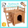 High Quality Pet Supplies Luxury Wooden Pet Dog House Bed
