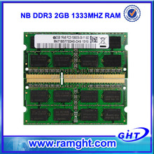 Low density ddr3 2gb notebook memory module