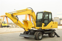 Hot sale mini excavator X80-L with diesel engine and timber grab