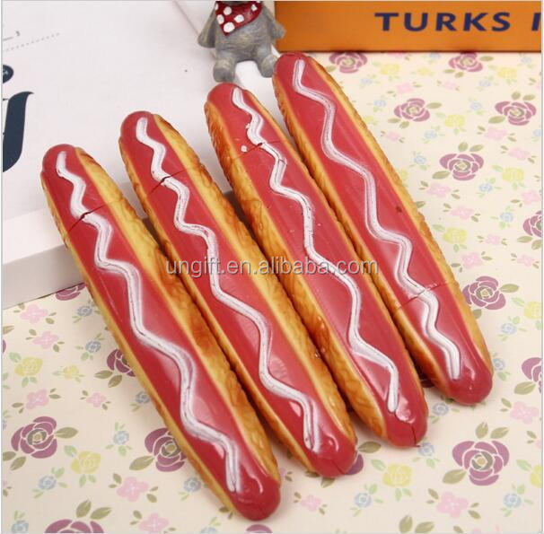 New Arrival Pizza hot dog buns ballpoint pen ball fridge magnet ballpoint pen