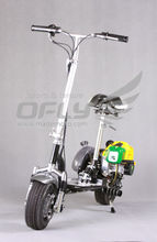 49cc CE Approved fold 2 wheel gas motor scooter with Steel Board