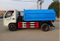 dongfeng 4*2hook lift garbage truck capacity 7 ton, 124hp LHD and RHD