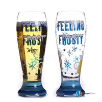 wholesale cheap brand novelty hand-painted crystal beer glass