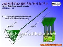 20H Telescopic Plastic Garden Leaf Grass claw Rake