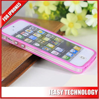 New Transparent optical Plastic for iphone5 tpu pc case