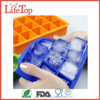 FDA LFGB Apporved Silicone Square Ice Maker Mold