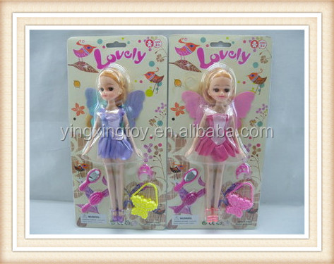 plastic flying fairy doll toy