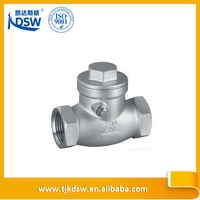 Spring loaded stainless steel sandwich check valve