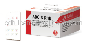 AB0 & RhD Blood Grouping Kit blood typing identification card/ one step blood type test kit/ blood Grouping Rapid Test
