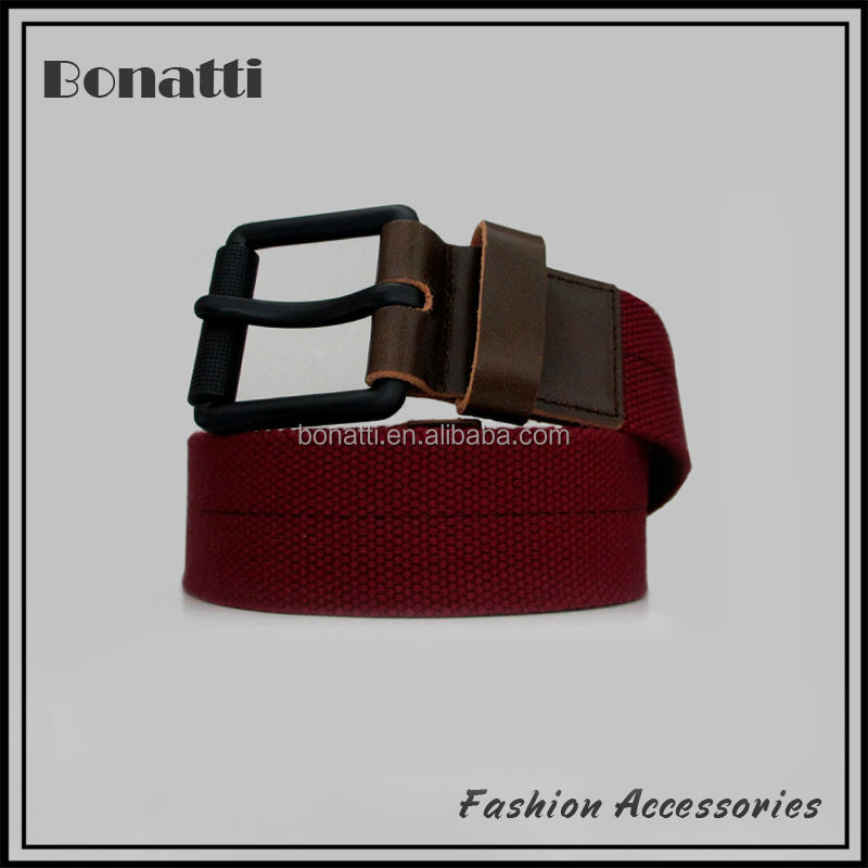 fashion red fabric webbing belt
