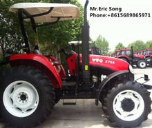 YTO 70HP 4WD X704 Farm Agriculture Tractor with Canopy Roof