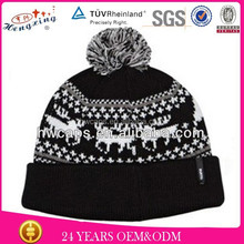 2013 Fashion Stylish Teenager Custom Printing Deer Knitted Hat