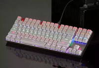 Illuminated LED Backlit USB Wired Professional Multimedia Gaming Keyboard for PC Laptop 87keys