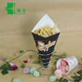 customized oil-proof waffle paper cone
