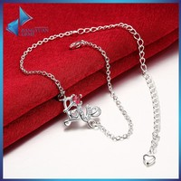 New design anklet,heart charm bracelet jewelry,alloy copper jewelry foot chain
