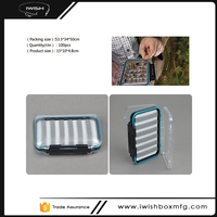 Most Popular Double Sided Plastic Clear Hinged Lids Slit Foam Insert Best Fly Tying Box