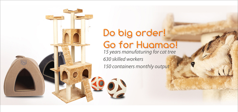 Hoe seller Pet Products felt sisal Cat Scratching Tree