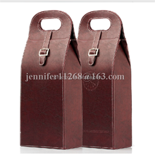 pu leather wine bag wine box wine carrier with handle