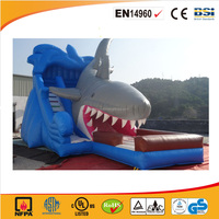 2016 Cheap Giant Shark Inflatable Slide