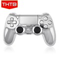 Chrome siliver controller housing shell for ps4 game accessories