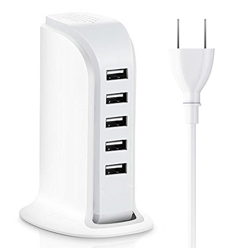 multi charging station 5ports wall charger 6.8A USB adapter with EU, US plug for ipad & iphone