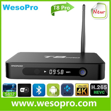 Android smart tv box with Android 5.1 Kodi 16.0 amlogic S812 chip 2GB RAM 8GB ROM Bluetooth Dual WIFI