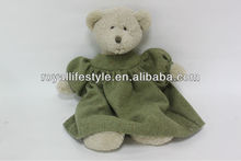 Plush and stuffed bear animal baby toys with cloth dress