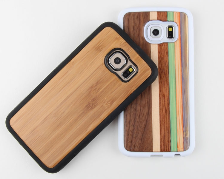 New arrival Luxury wood grain phone case for iPhone 6 skateboard wood case Eco-friendly For Iphone 6 Wood Case