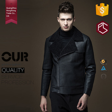 Hongxiong High Quility OEM Service Slim with Fur Collar and Side Zip Motorcycle Leather Jacket