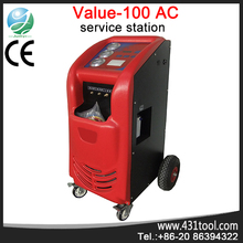 r134a car refrigerant recovery recycling machine / a/c service station Launch Value 100