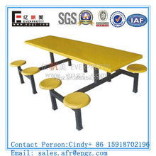 12 Seaters Canteen Table Chairs for School For Used School Canteen Furniture