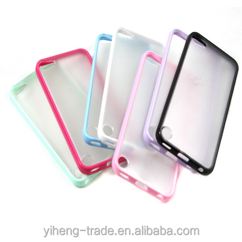 2 in 1 Slim Matte Skin Hard Case Cover TPU Frame For iPod Touch 5 Iphone5 4S Drop shipping