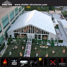 Luxury A shaped aluminum alloy frame Safari wedding party Tent with glass door for event