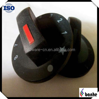 Casting plastic gas stove knob with different engraving