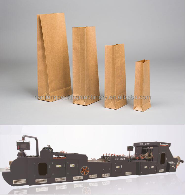 High quality cost of paper bag making machine
