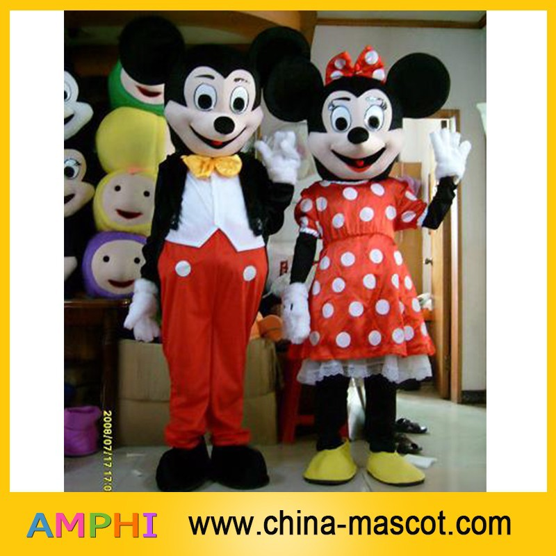 mickey and minnie mascot costume