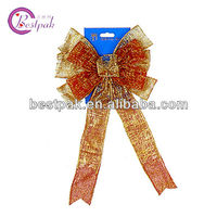 coloreful sheer ribbon with gold edge/ribbon bow for decorative