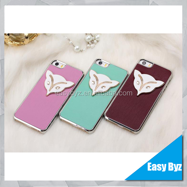 3D Fox Genuine Leather Hard Case For iPhone 5 5S 3D Cover Skin, for iphone 5 5s ultra thin case leather