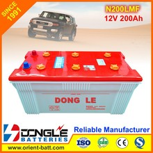 N200 Factory Supply Best Price Rechargeable dry Cell battery 12V 200Ah