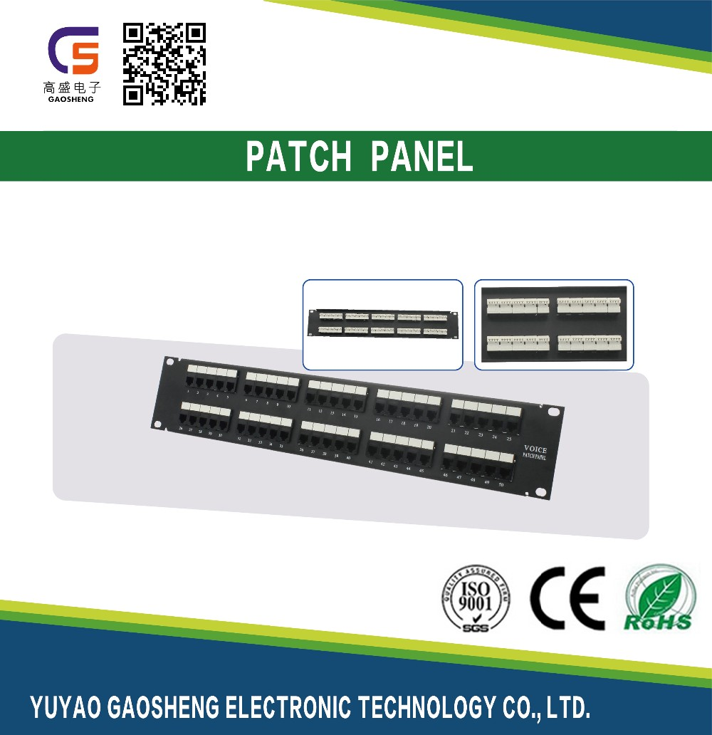 high quality patch panel UTP 50 port patch panel Cat.3 Audio voice Patch Panel