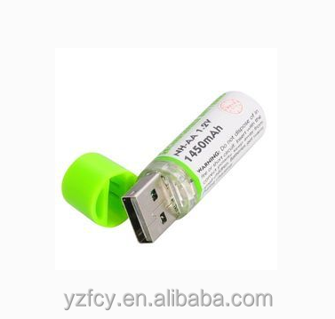 AA Size and 1.2V Nominal Voltage USB rechargeable battery