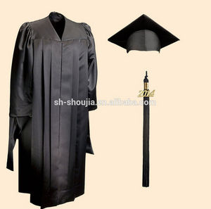 customized black graduation gowns with cap & hood