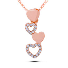 N245 Heart Linked To Heart Necklace Dainty 18K Gold Necklaces For Women Allergy Free Ladies Accessories Wholesale China