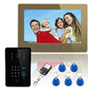 "10"" Hands Free Color Video Door Phone Digital Color Video Doorphone Doorbell Camera"