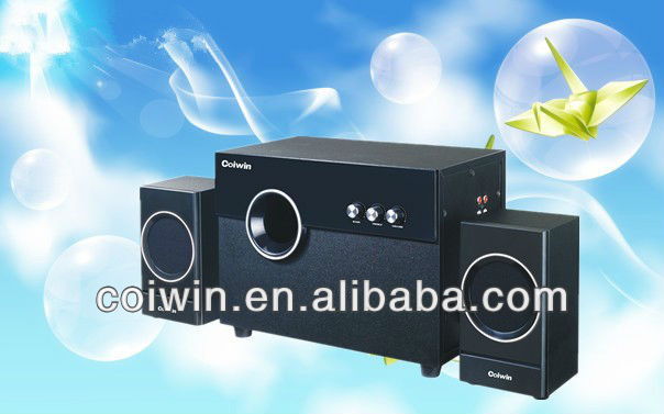 2.1CH high quality multimedia speaker with wooden case